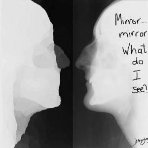 head, bones, skull, X-ray, radiology, introspection, nose, chin