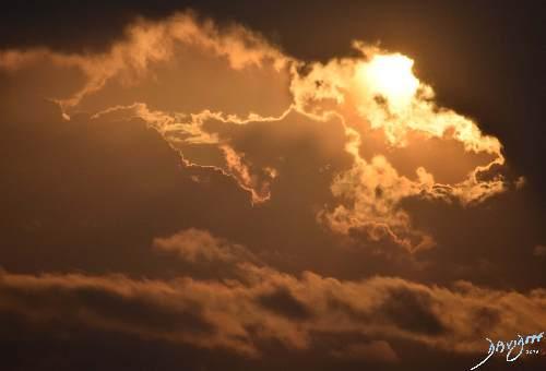 sun, sky, clouds, sunset