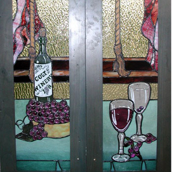 Stained Glass Cabinet Door Insert