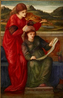 E. Burne-Jones, Musica,, olio su tela, The Ashmolean Museum, Oxford