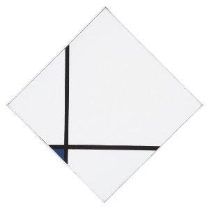 Piet Mondrian, Schilderij N. 1. Losanga con due linee e blu, 1926, olio su tela, cm 61,1 x 61,1, Philadelphia Museum of Art, A.E. Gallatin Collection, 1952