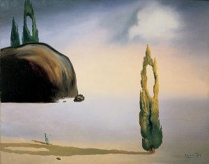 Salvador Dalí, L'eco del vuoto, c. 1935, Olio su tela, cm 73 x 92, Milano, Collezione privata