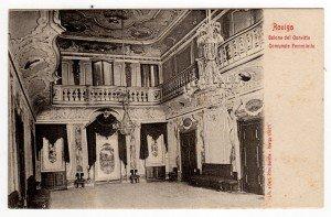 Salone del palazzo Campo a San Francesco dipinto da G. Biasin (cartolina Borella collezione Andriotto)