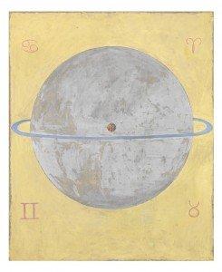 Hilma af Klint, The Dove, no. 12, Series UW, 1915, Oil on canvas, 158 x 131 x 4 cm.Courtesy The Hilma Af Klint Foundation
