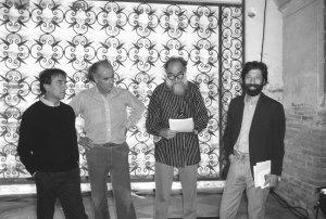 Claudio Abbado, Luigi Nono, Emilio Vedova, Massimo Cacciari, Foto Graziano Arici, in mostra al Festival Luigi Nono 2017