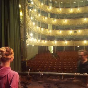 Backstage del Teatro Goldoni dopo la première del Lago dei Cigni di a Venezia (Teatro Goldoni) la sera di Santo Stefano con il Moscow State Classical Ballet prodotto dal Teatro Verdi di Montecatini, 2018