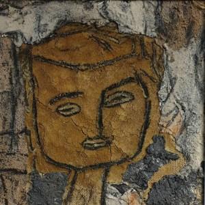 Pietro Beretta, Sguardi, n. 2,, 40 x 40, tecnica mista,,2019