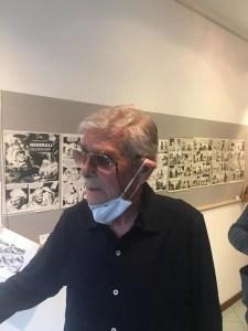 """29 agosto 2020, Ivo Pavone all'inaugurazione della sua personale """"Ivo Pavone. Una vita da fumettaro"""" alla Galleria delle Cornici (Lido di Venezia). Foto Marino Basso"""