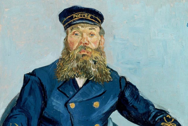 Painting of a Postman