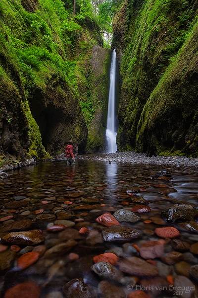 Multnomah Falls Oregon Wallpaper Gorge Hiker Oneonta Gorge Or Art In Nature Photography