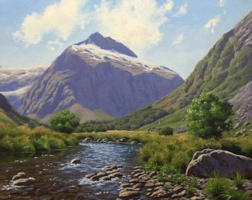 paint mountain landscape