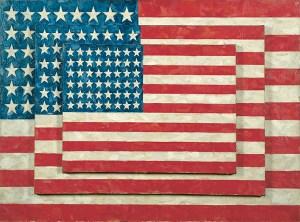 Jasper Johns Three Flags Art Image
