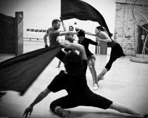 "Members of the Milwaukee Ballet rehearsing Michael Pink's 'Mirror Mirror."" Photo Timothy O'Donnell"
