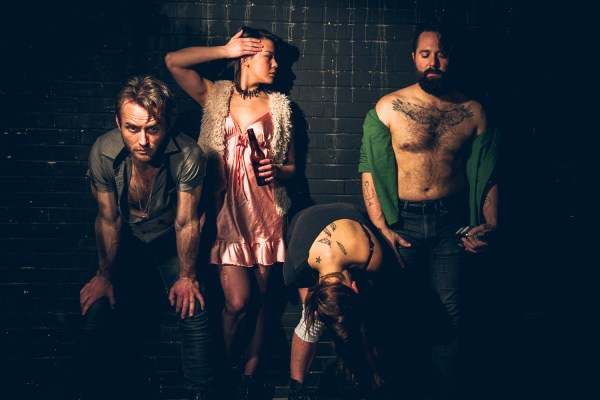 From left, Josh Anderson, Katie Graves, Erin Kilmurray, Mikey Rioux in The Salts | Photo my Matthew Gregory Hollis
