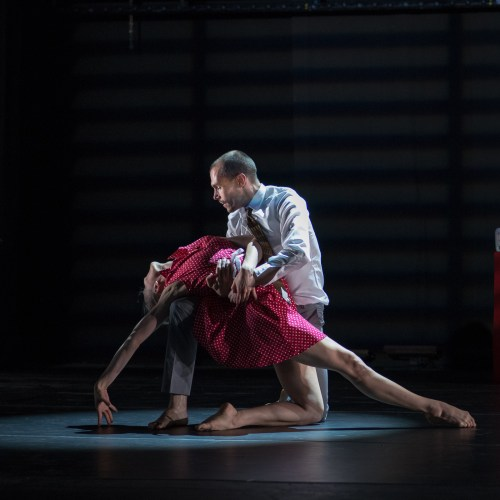 Christiano dances with Nomi Dance Company Artistic Director Laura Kariotis | photo credit: Topher Alexander