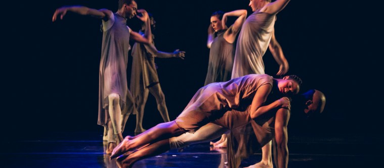 """Winifred Haun & Dancers in """"Your nearest exit may be behind you"""" by Winifred Haun. Photo credit: Matthew Gregory Hollis, lighting by Julie Ballard"""