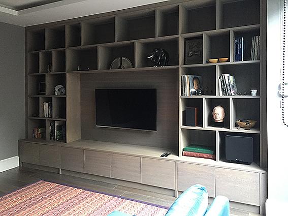 TV wall unit  display wall unit  bespoke av unit
