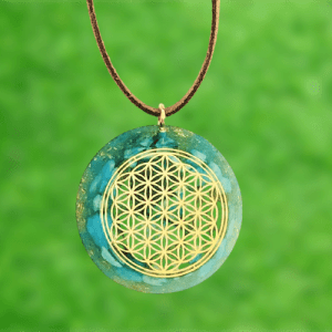 Atlantis Flower of life goud hanger