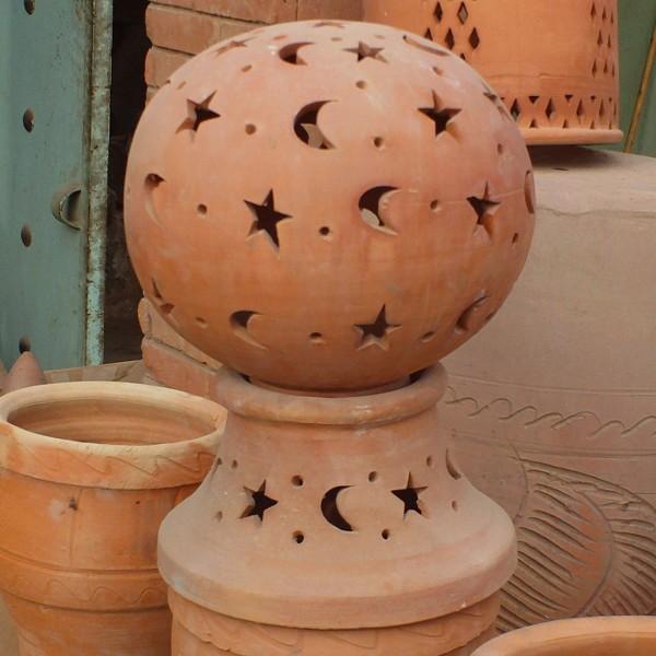 Lamp Terracotta For Garden Moroccan Pottery Of Marrakesh