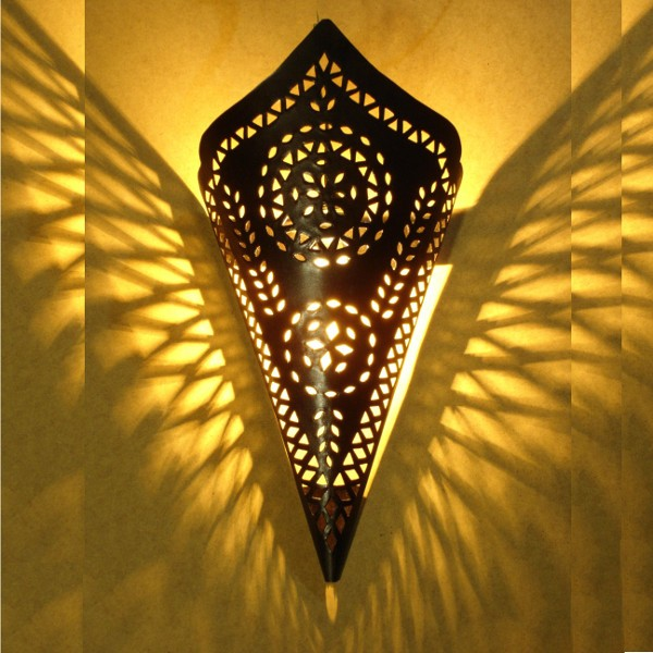 Black Stylish Moroccan Wall lighting cone of Marrakesh