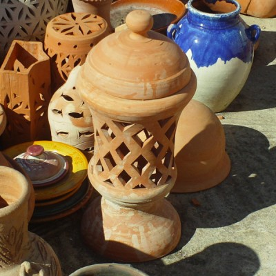Lamp Terracotta for garden decoration Moroccan handicraft