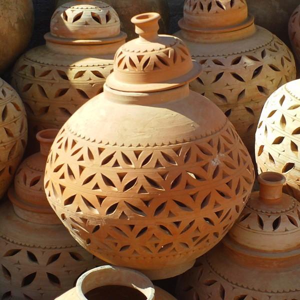 Lampe de jardin Poterie Artisanale marocaine de Marrakech