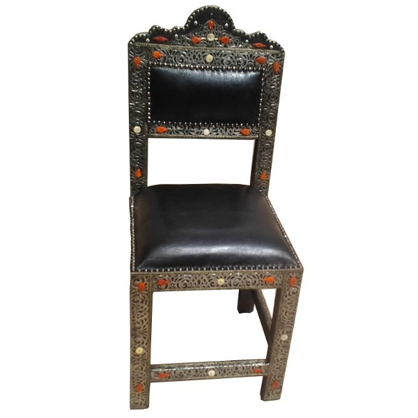 Handcrafted Moroccan Chair for dining room decor Moroccan