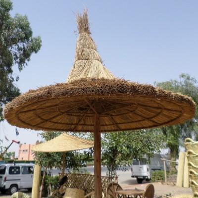 Parasol en rotin et bois artisanat Marocain Marrakesh