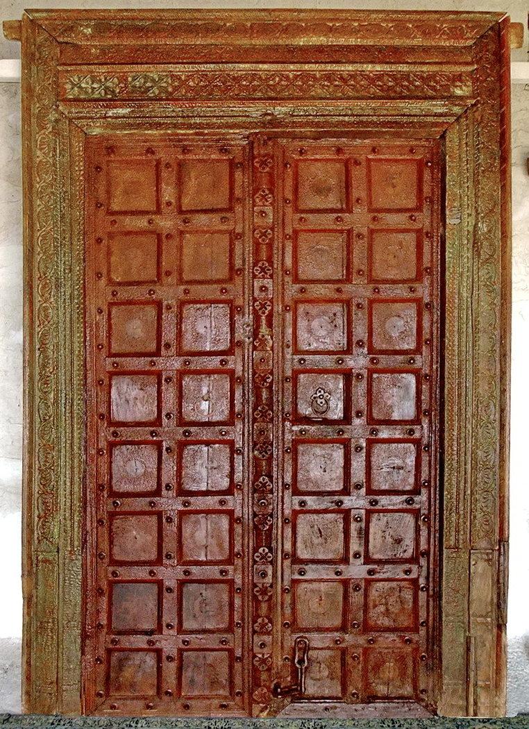 Porte Ancienne Indienne JN6 LA113 Meubles Indiens