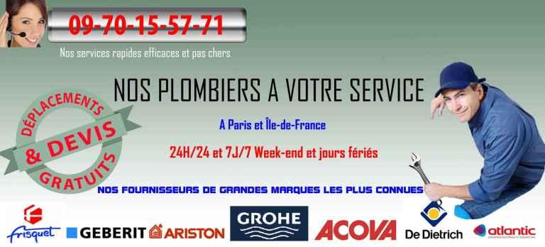 banniere plombier paris 12