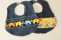 Recycled Denim Baby Bibs and other Baby Shower Sewing ...