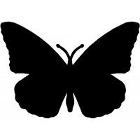 Butterfly Silhouette Wall Hanging/ Magnetic Memo board