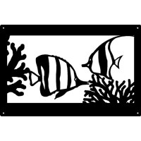 Tropical Fish Ocean Wall Art Sign