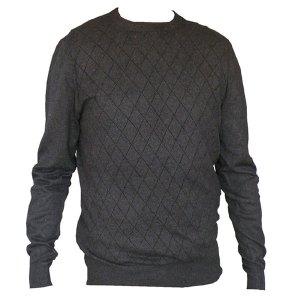 Pull en laine noire homme