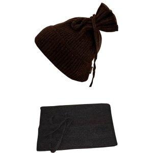Bonnet écharpe 2 en 1 en laine de yack - Selenge