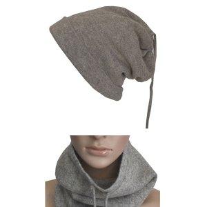 Bonnet cache cou en laine 2 en 1
