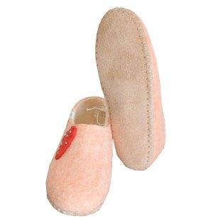 chaussons rose en feutre