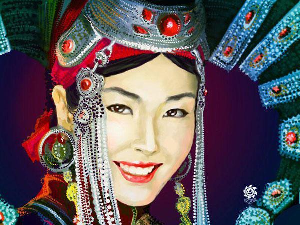 coiffures femme mongole