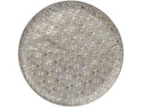 antique silver disc wall art