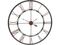giant skeleton wall clock | see through metal clock