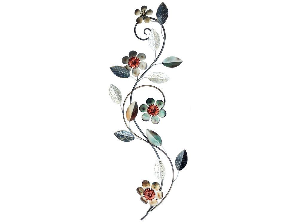 silver floral wall art
