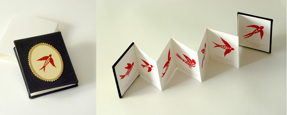 Miniature book with birds small