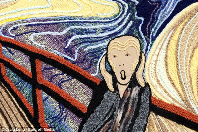 The Scream - knitted by Norma Box