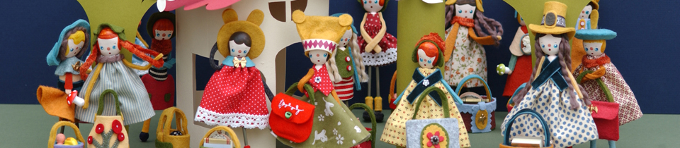 Welcome to Doll Town! My Latest Handmade Dolls for You.