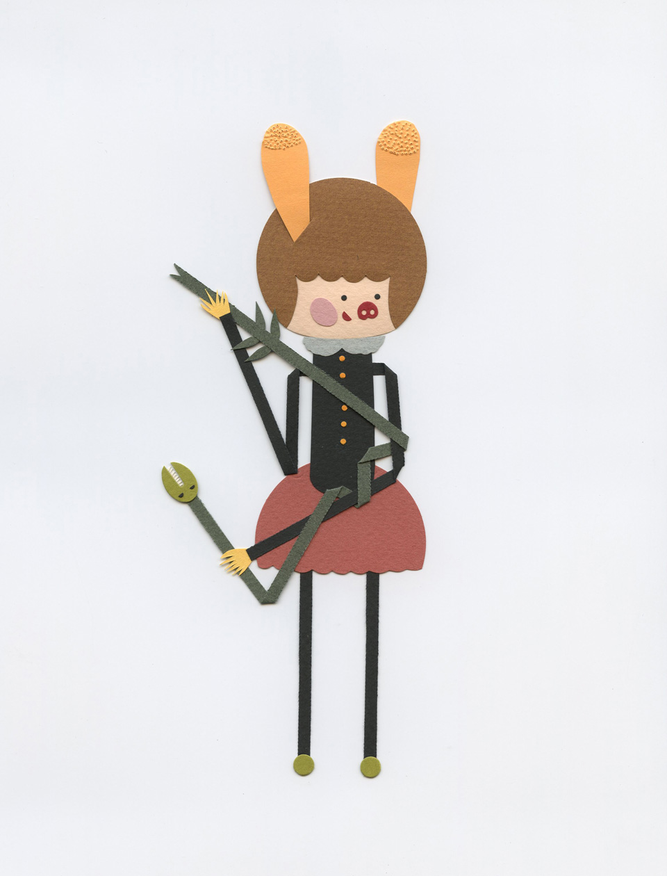 Paper character by Elsa Mora. 2013. copy