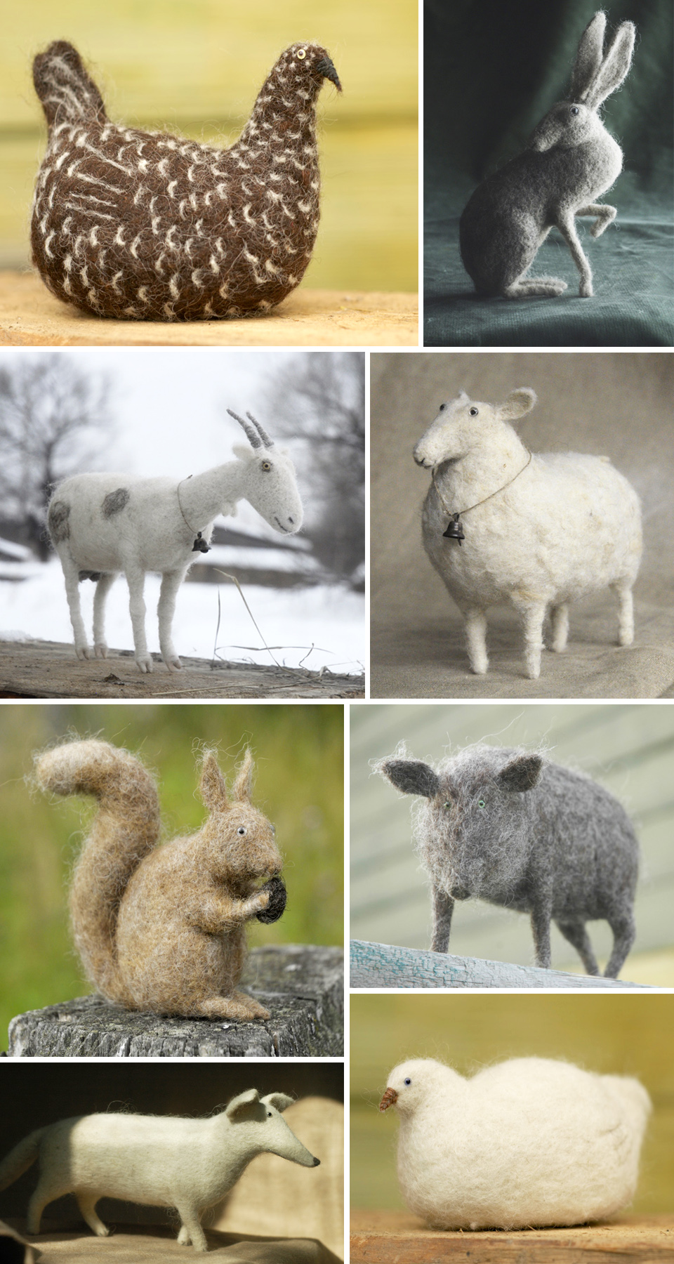 victor dubrovsky's felted animals