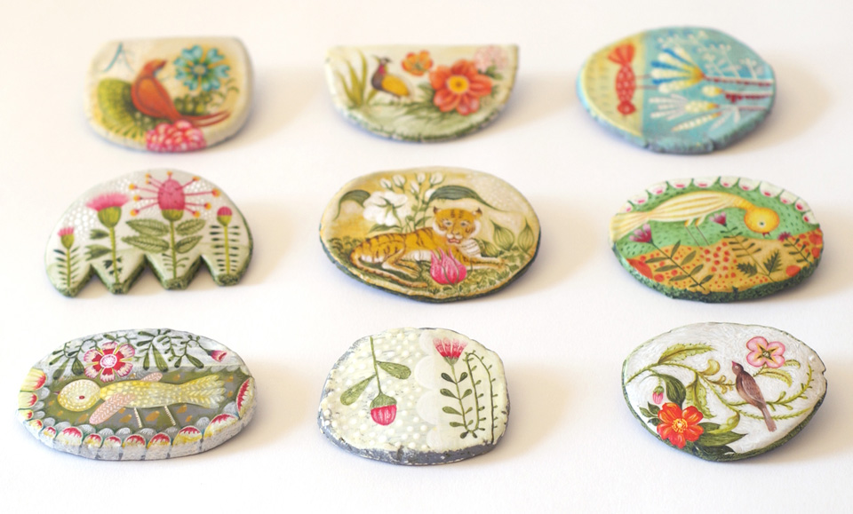 Brooches by Elsa Mora