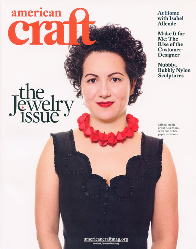 Elsa Mora on the cover of American Craft Magazine