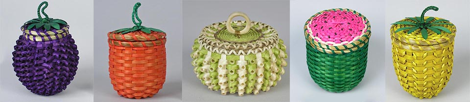 Baskets from the Abbe Museum Collection.