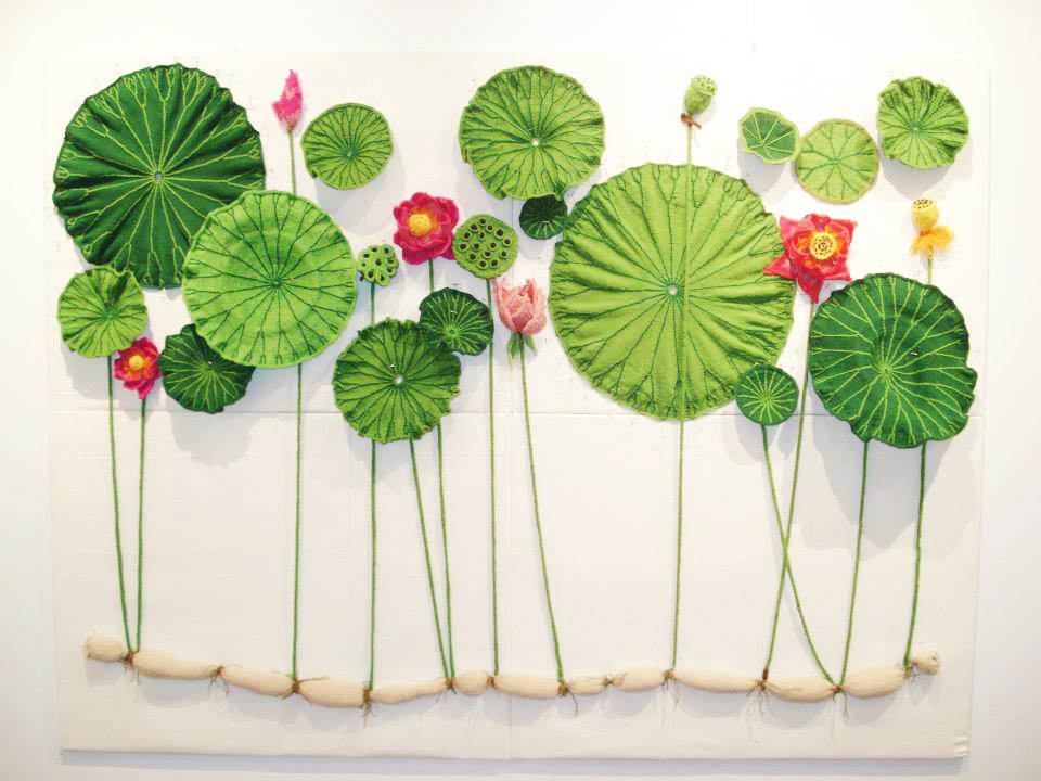 Ruth Marshall's Knit Installation.